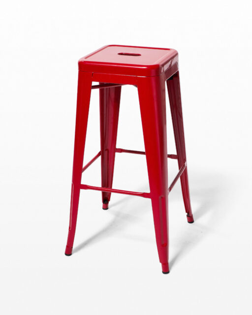 Front view of Cherry Red Stool