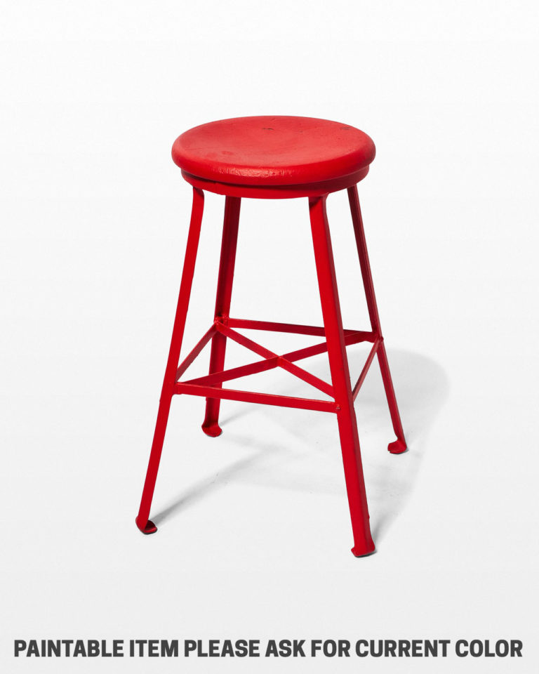 Front view of Paintable Everett Industrial Stool
