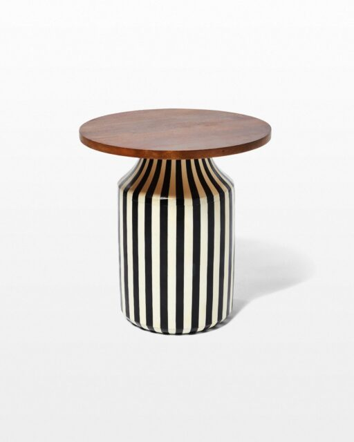 Front view of Ereka Stripe Side Table