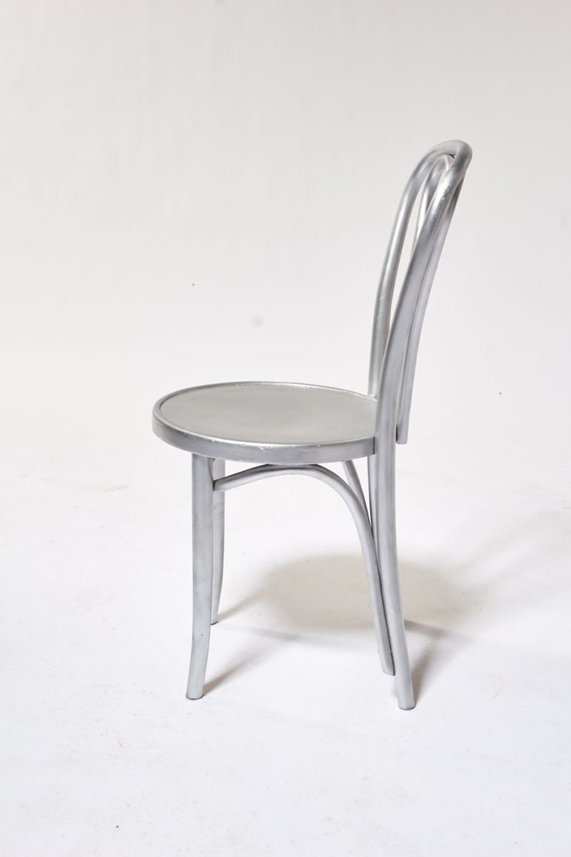 Alternate view 1 of Silver Cafe Chair