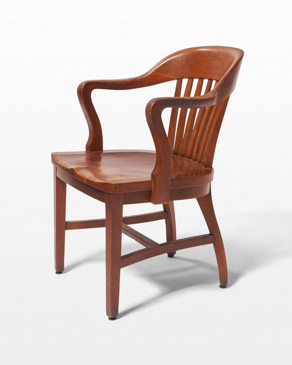 Front view of Morgan Banker's Chair