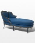Front view thumbnail of Penelope Blue Daybed Chaise