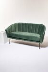 Alternate view thumbnail 4 of Leif Moss Green Velvet Loveseat
