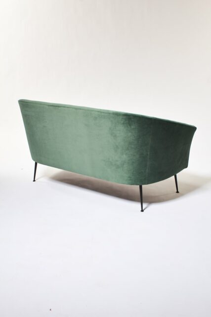 Alternate view 3 of Leif Moss Green Velvet Loveseat