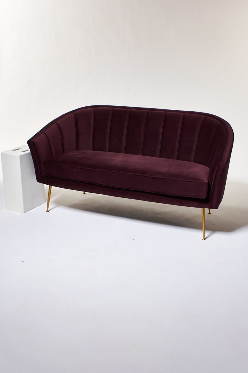 Alternate view 4 of Venus Plum Velvet Loveseat