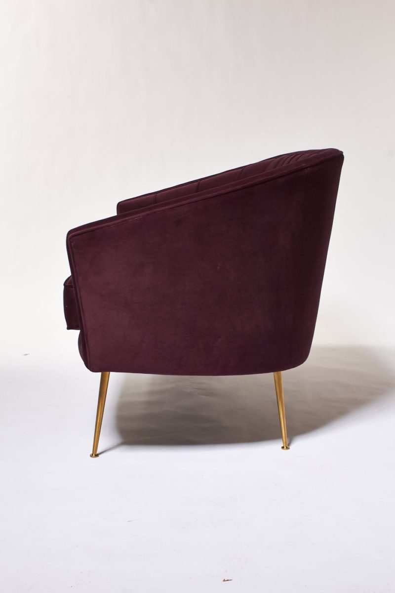 Alternate view 2 of Venus Plum Velvet Loveseat