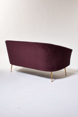 Alternate view 3 of Venus Plum Velvet Loveseat