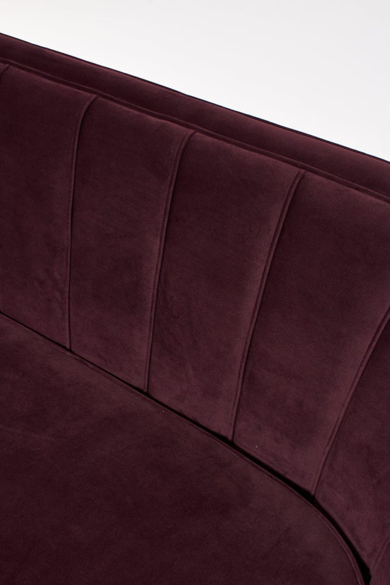 Alternate view 1 of Venus Plum Velvet Loveseat