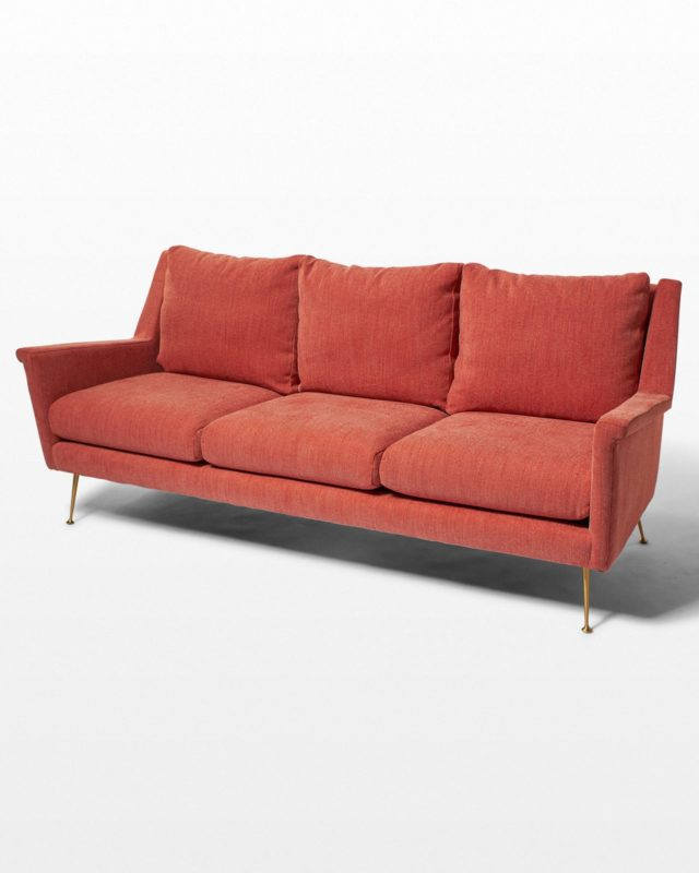 Front view of Ojo Desert Coral Sofa