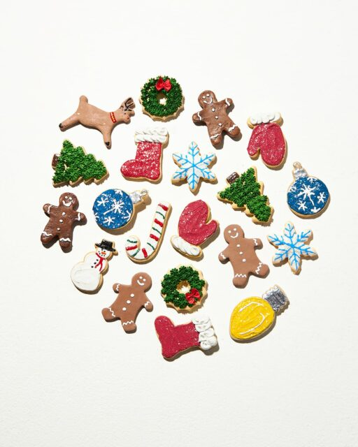 Front view of Festive Faux Cookie Assortment (20 pieces)