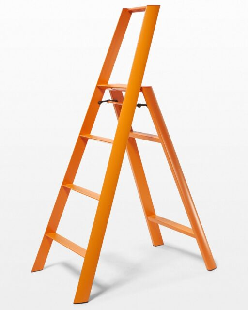 Front view of 5 Foot Orange Rooney Ladder