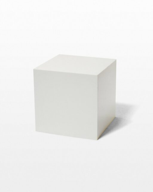 Front view of 15″ Inch Ali White Acrylic Display Cube