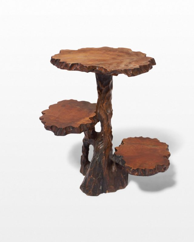 Front view of Joi Carved Branch Pedestal Stand