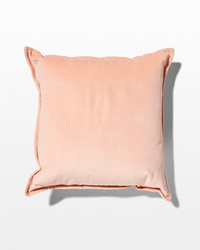 Front view of Ana Blush Pink Velvet Pillow