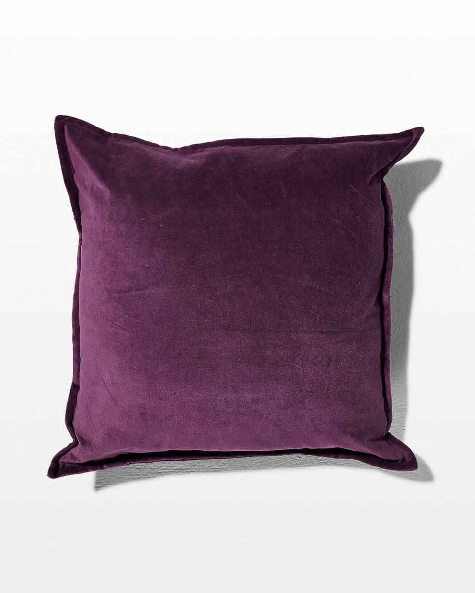 Front view of Dana Purple Velvet Pillow