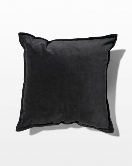 Front view of Margo Black Velvet Pillow
