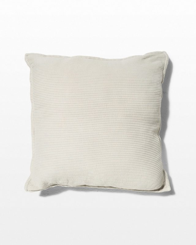 Front view of Gala Textured White Pillow