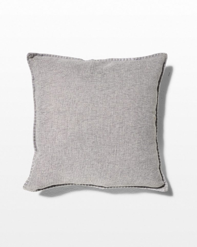 Front view of Perth Light Grey Pillow