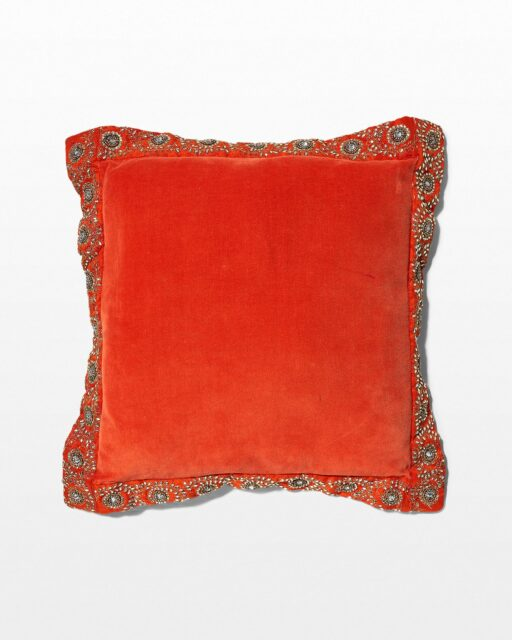 Front view of Shira Sparkle Velvet Pillow
