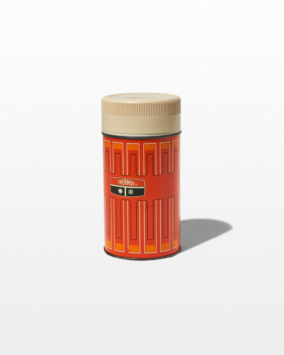 Front view of Cooper Orange Thermos