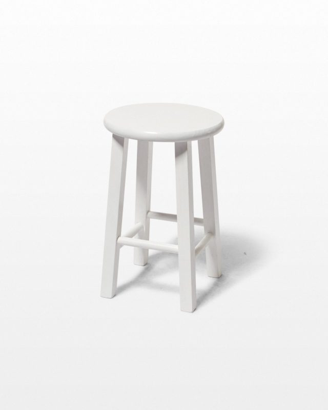 "Front view of White 18"" Studio Stool"