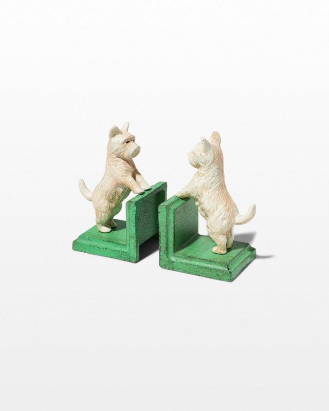 Front view of Scout Terrier Bookend Objects