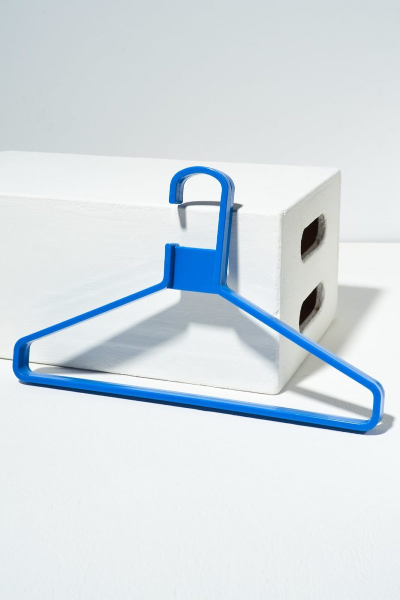 Alternate view 1 of Set of 7 Blue Molded Hangers