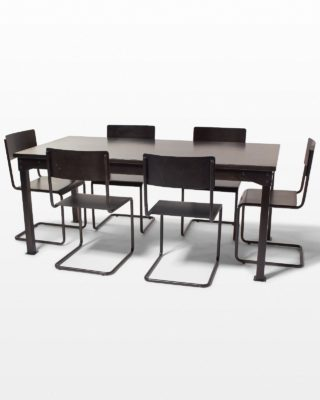 Front view of Pari Steel Table and Chair Set