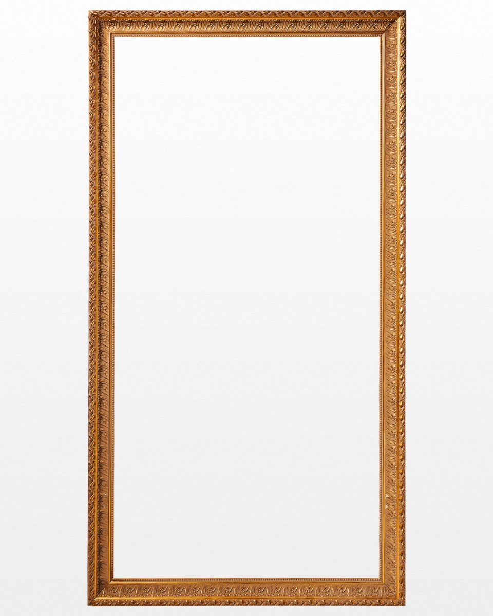 Front view of Varia Oversized Gold 4.5' x 8.5' Frame