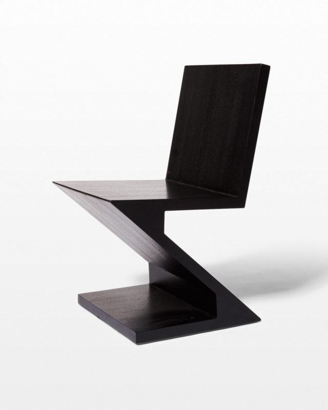 Front view of Waldorf Black Wood Z Chair