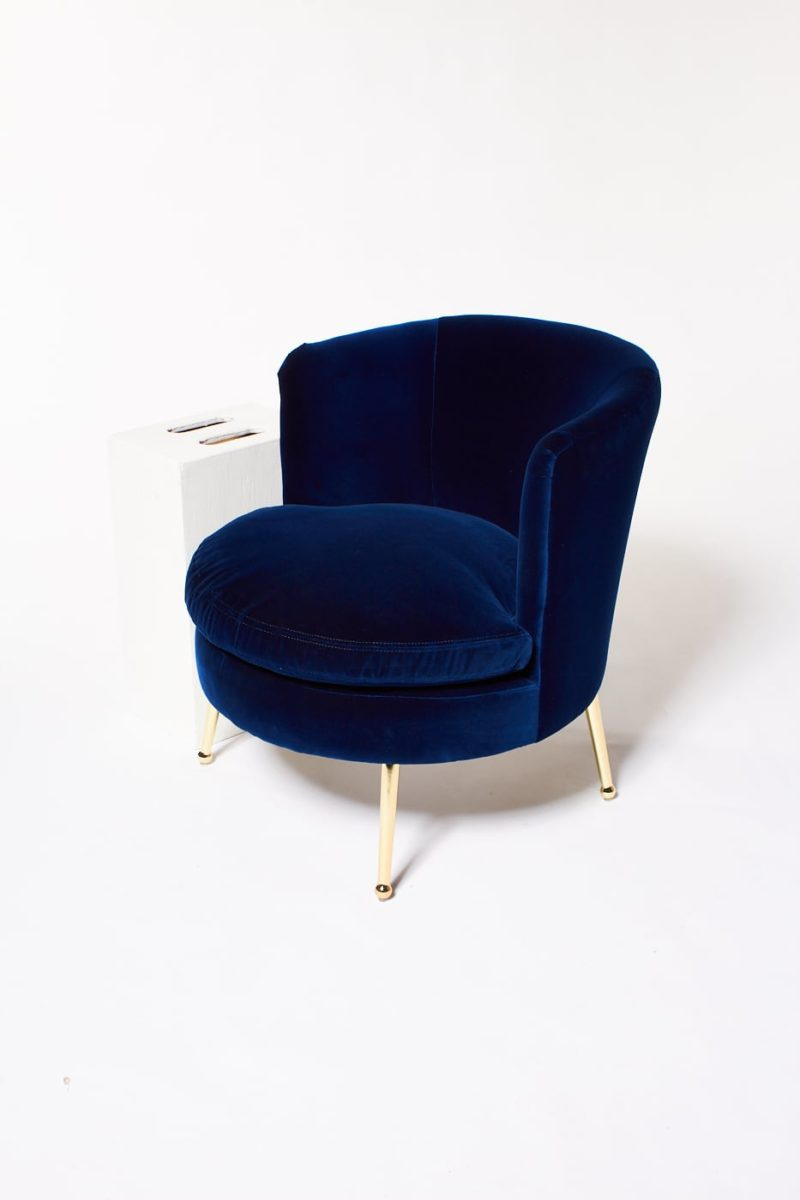 Alternate view 2 of Mabel Blue Velvet Side Chair