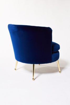 Alternate view 4 of Mabel Blue Velvet Side Chair