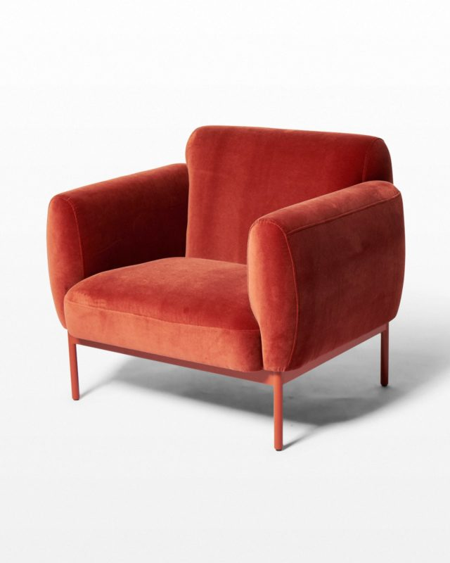 Front view of Roma Velvet Armchair
