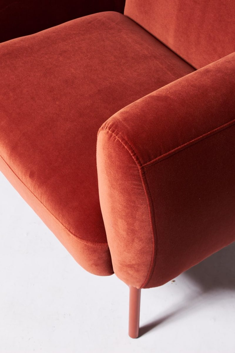 Alternate view 1 of Roma Velvet Armchair