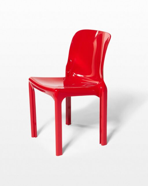 Front view of Tay Red Acrylic Chair