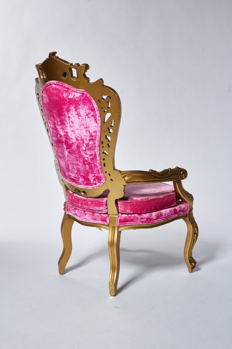 Alternate view 6 of Crest Pink Throne Chair
