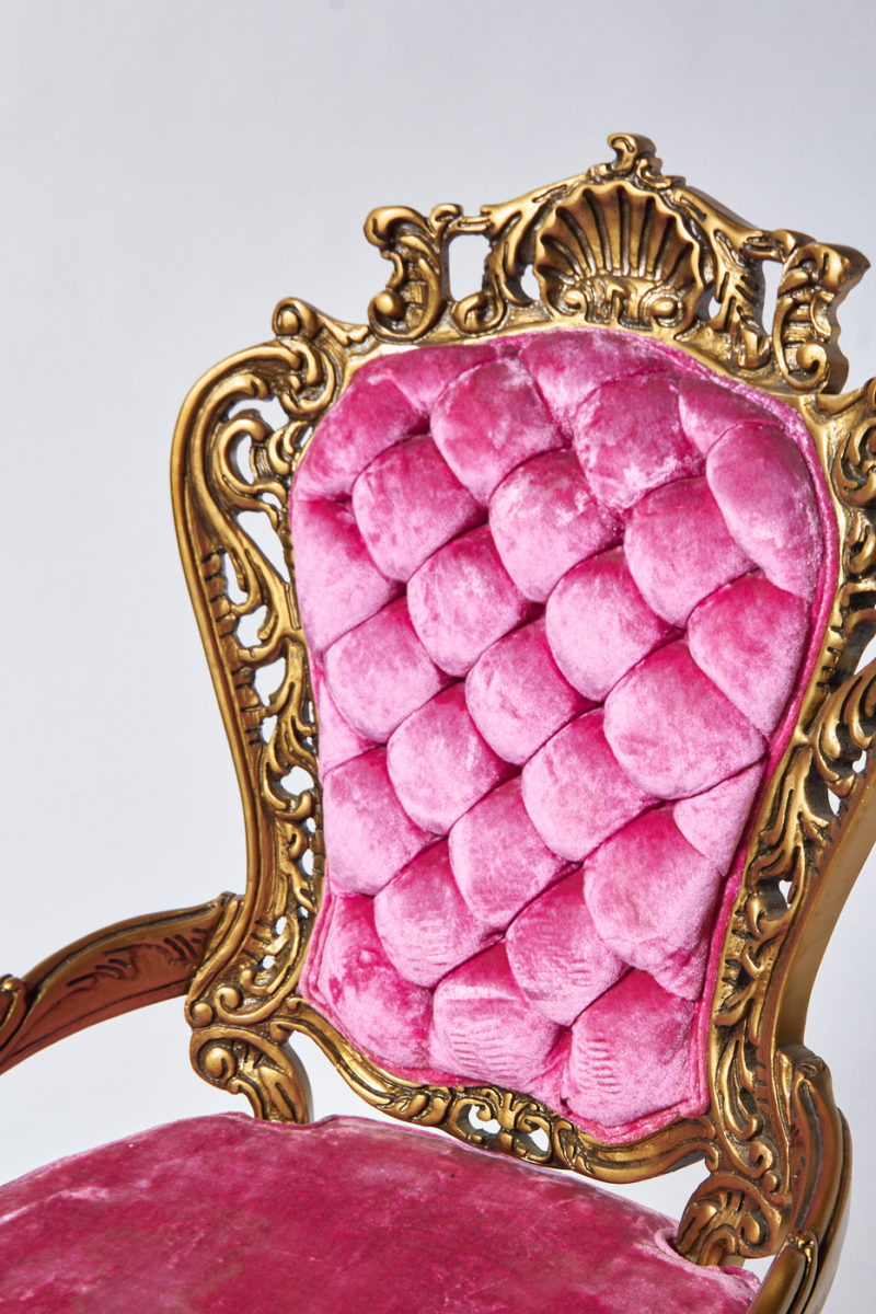 Alternate view 1 of Crest Pink Throne Chair