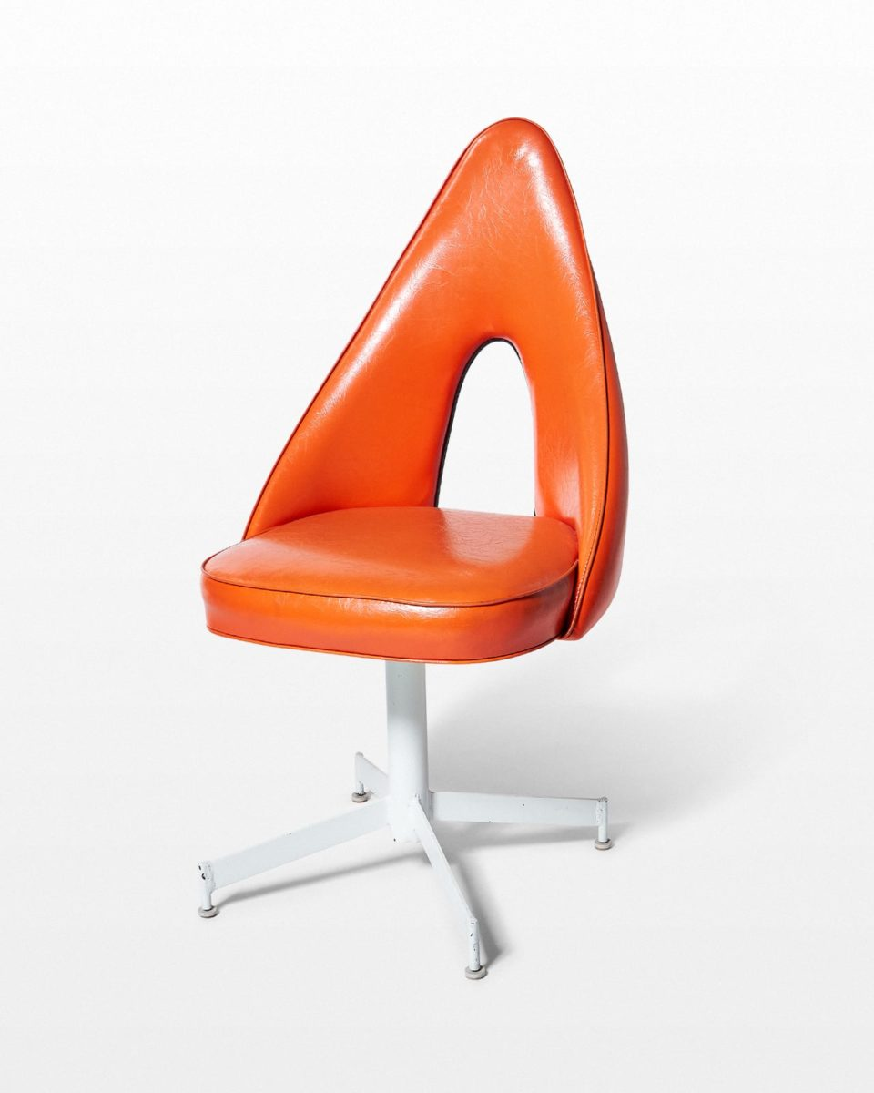 Front view of Cog Orange Swivel Chair