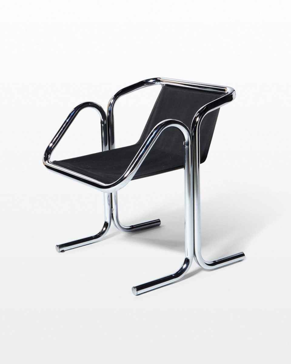 Front view of Waldo Chrome Sling Chair