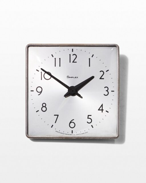 Front view of Warehouse Wall Mount Clock
