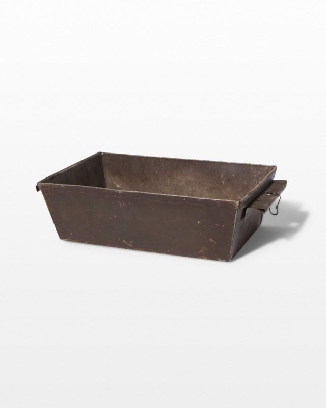 Front view of Cary Metal Tray