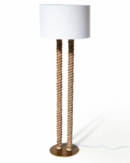 Front view of Coastal Rope Floor Lamp