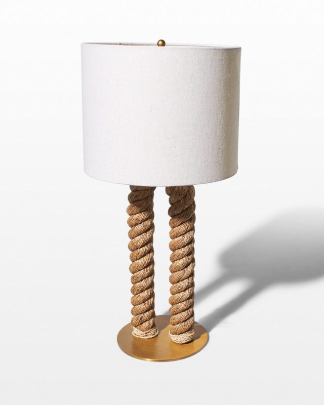 Front view of Coastal Rope Table Lamp