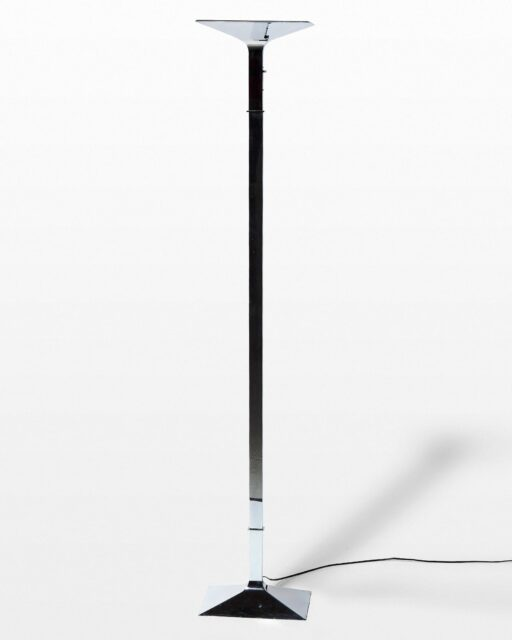 Front view of Ernest Chrome Floor Lamp