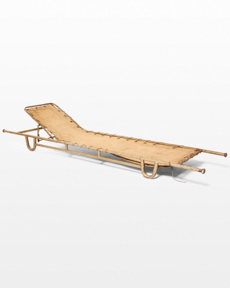 Front view of Norman Antique Military Cot Stretcher