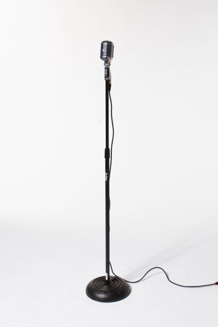 Alternate view 1 of Bolt Silver and Blue Microphone with Cable and Stand
