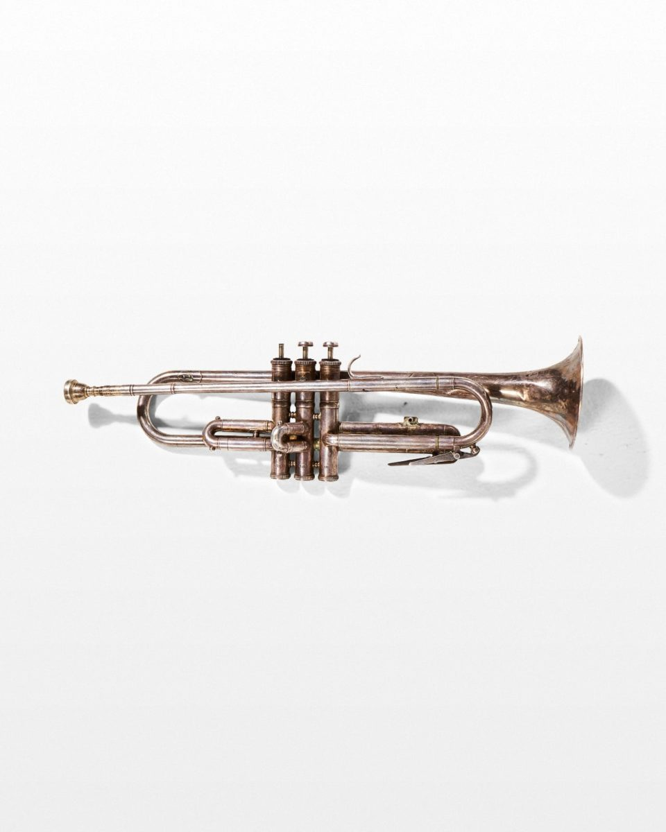 Front view of Brass Trumpet