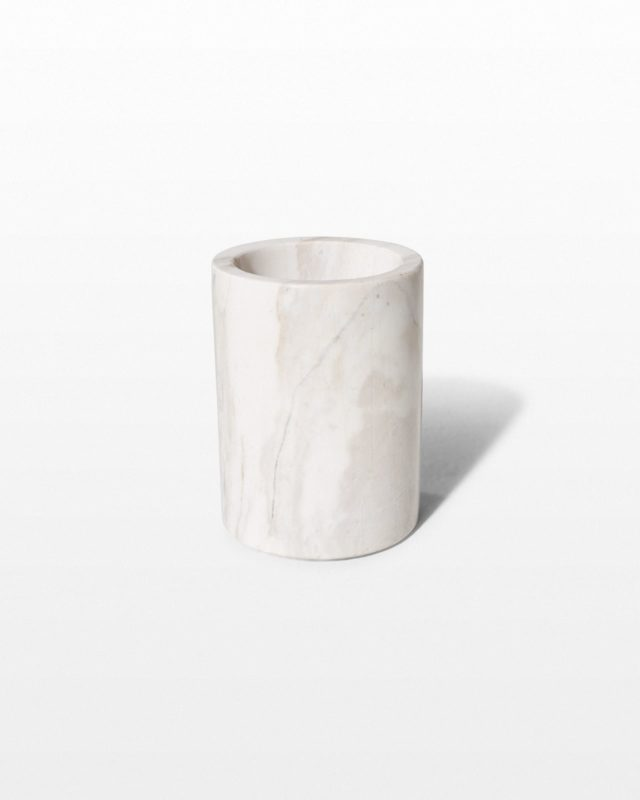 Front view of Marble Pencil Cup
