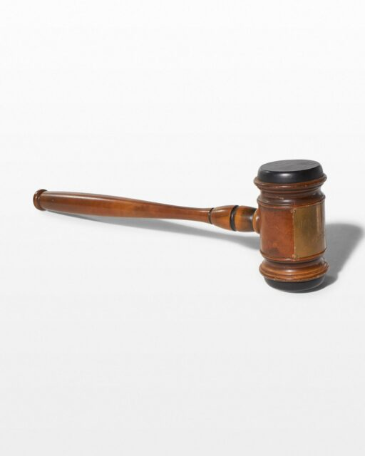 Front view of Oversized Gavel