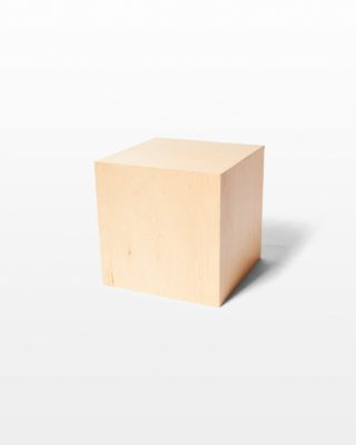 Front view of Andy Natural Wood Cube Table